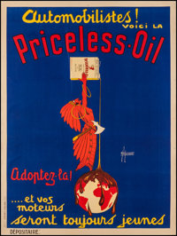 """Priceless Oil Advertising Poster (1920s). French Grande (46"""" X 62.25""""). Miscellaneous"""