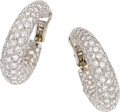Estate Jewelry:Earrings, Neiman Marcus Diamond, Platinum, White Gold Earrings. ...