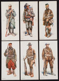 """Non-Sport Cards:Sets, 1918 E252 Wilbur's Cocoa """"Soldiers of the Allies"""" Complete Set (6)...."""