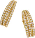 Estate Jewelry:Earrings, Neiman Marcus Diamond, Gold Earrings. ...