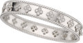 Estate Jewelry:Bracelets, Van Cleef & Arpels Diamond, White Gold Bracelet. ...