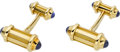 Estate Jewelry:Cufflinks, Tiffany & Co. Sapphire, Gold Cuff Links. ... (Total: 2 Items)