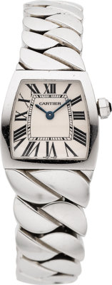 "Cartier Lady's Stainless Steel ""La Dona"" Watch"