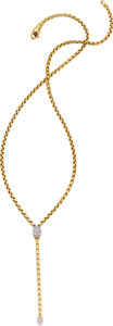 Estate Jewelry:Necklaces, Fope Diamond, Gold Necklace. ...