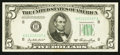 Error Notes:Foldovers, Fr. 1962-H $5 1950A Federal Reserve Note. Choice Crisp Uncirculated.. ...