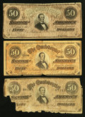 Confederate Notes:1862 Issues, A Well Worn Trove of Eleven Confederate Notes.. ... (Total: 11notes)