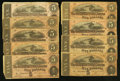 Confederate Notes:1864 Issues, T69 $5 1864, Nine Examples.. ... (Total: 9 notes)