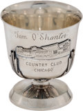 Golf Collectibles:Autographs, 1952 All American Open Winner's Trophy Cup Presented to SamSnead....