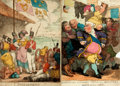 Books:Prints & Leaves, Thomas Rowlandson (English caricaturist, 1756-1827). Group of TwoOriginal Hand-Colored Engravings. Recovery of a Dorman...