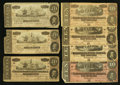 Confederate Notes:1864 Issues, T67 $20 1864, Three Examples. T68 $10 1864, Four Examples.. ... (Total: 7 notes)