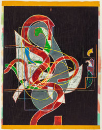 FRANK STELLA (American, b. 1936) Pergusa Three (from the Circuits series), 1983
