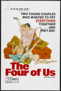 """Movie Posters:Adult, The Four of Us (Group 1, 1974). One Sheet (27"""" X 41""""). Very little is known about this mid-70s adult flick from Group 1. Wea..."""