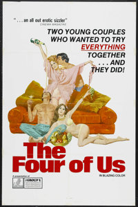 "The Four of Us (Group 1, 1974). One Sheet (27"" X 41""). Very little is known about this mid-70s adult flick fro..."
