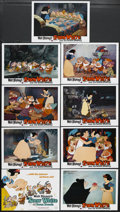 "Movie Posters:Animated, Snow White and the Seven Dwarfs (Buena Vista, R-1990s). Lobby Card Set of 9 (11"" X 14""). Animated Musical. Produced by Walt ... (Total: 9 Items)"