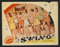 "Swing (Micheaux Film Corporation, 1938). Lobby Card (11"" X 14""). Musical. Starring Cora Green, Larry Seymour..."