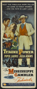 "Movie Posters:Adventure, The Mississippi Gambler (Universal International, 1953). Insert(14"" X 36""). Adventure. Starring Tyrone Power, Piper Laurie,..."