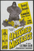 "Movie Posters:Drama, Untamed Mistress (Howco, 1956). One Sheet (27"" X 41""). Drama. Allan Nixon, Jacqueline Fontaine, Don C. Harvey Byron Keith. D..."