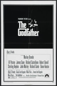 "The Godfather (Paramount, 1972). One Sheet (27"" X 41""). Crime. Starring Marlon Brando, Al Pacino, James Caan..."