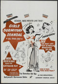 """Movie Posters:Bad Girl, Girls Dormitory Scandal (Roadshow Attractions, 1950s). One Sheet(28"""" X 41""""). Little is known about this exploitation title...."""