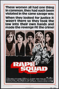 """Act of Vengeance (AIP, 1974). One Sheet (27"""" X 41""""). Released in the U.S. as """"Rape Squad."""" Crime. St..."""