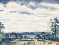 Texas:Early Texas Art - Impressionists, CATHERINE MCKINLEY SMITH (1908-1990). Lake Austin, 1957.Watercolor. 12in. x 15in.. Signed and dated lower right. In h...