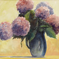 Texas:Early Texas Art - Impressionists, CATHERINE MCKINLEY SMITH (1908-1990). Hydrangeas.Watercolor. 22in. x 22in.. Signed lower right. Signed and titledverso...