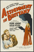 """Movie Posters:War, Assignment in Brittany (MGM, 1943). One Sheet (27"""" X 41""""). WarDrama. Starring Pierre Aumont, Susan Peters, Richard Whorf, M..."""