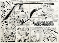 "Curt Swan and Murphy Anderson - Action Comics #403, pages 2 and 3 Original Art (DC, 1971). The ""Swanderson"" te..."