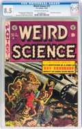 Golden Age (1938-1955):Science Fiction, Weird Science #17 With Original EC Mailing Envelope (EC, 1953) CGCVF+ 8.5 Off-white to white pages....
