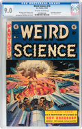 Golden Age (1938-1955):Science Fiction, Weird Science #18 With EC Mailing Envelope (EC, 1953) CGC VF/NM 9.0Off-white to white pages....