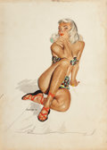Pin-up and Glamour Art, W. CALLAHAN (American, 20th Century). Calendar Recreation.Watercolor on board. 14 x 10 in.. Signed lower left. From...(Total: 2 Items)