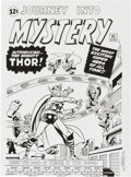 Original Comic Art:Covers, Mike DeCarlo Journey Into Mystery #83 Thor Cover RecreationOriginal Art (2014).. ...