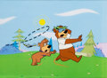 Animation Art:Production Cel, Yogi Bear and Boo-Boo Public Service Announcement Production CelSet-Up Animation Art (Hanna-Barbera, 1980s)....