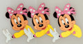 Animation Art:Production Cel, Minnie Mouse Production Cel Animation Art Group (Walt Disney, c.1990s).... (Total: 3 Original Art)