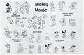 animation art:Model Sheet, Mickey Mouse Large Studio Print Animation Model Sheet (Walt Disney,1965)....