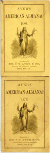 Books:Americana & American History, [Almanac]. Group of Two Copies of Ayer's American Almanac.Lowell, J.C. Ayer, [1880, 1879]. Twelvemos. Publisher's p...(Total: 2 Items)
