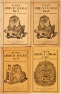 Books:Americana & American History, [Almanac]. Group of Four Copies of Ayer's American Almanac.Lowell, J.C. Ayer, [1907-1909]. Twelvemos. Publisher's p... (Total:4 Items)
