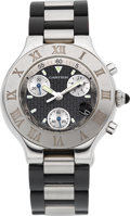 "Estate Jewelry:Watches, Cartier Men's Stainless Steel ""21 Chronoscaph"" Watch. ..."
