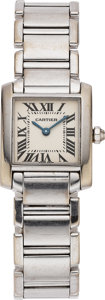 "Estate Jewelry:Watches, Cartier Lady's White Gold ""Tank Francaise"" Watch. ..."