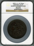 Expositions and Fairs, 1893 World's Columbian Exposition, 1892 Cristobal Colon MS62 BrownNGC. Eglit-111. Bronze, 70 mm....