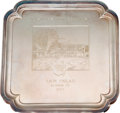 Golf Collectibles:Ephemera, 1957 The Masters Runner-Up Silver Tray Won by Sam Snead....
