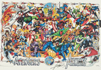 Avengers 30th Anniversary Poster Signed by George Perez with Stickered Tube (Marvel, 1994).... (Total: 2 Items)