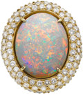 Estate Jewelry:Rings, Lilli Opal, Diamond, Gold Ring. ...