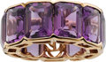 Estate Jewelry:Rings, Piranesi Amethyst, Pink Gold Ring. ...