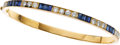 Estate Jewelry:Bracelets, Van Cleef & Arpels Sapphire, Diamond, Gold Bracelet. ...