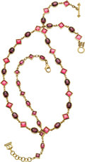 Estate Jewelry:Suites, Temple St. Clair Tourmaline, Garnet, Gold Jewelry. ... (Total: 2Items)