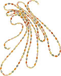 Estate Jewelry:Necklaces, Multi-Color Sapphire, Gold Necklace. ...