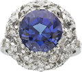 Estate Jewelry:Rings, Buccellati Tanzanite, Diamond, Platinum Ring. ...