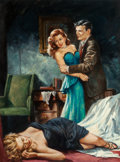 Pulp, Pulp-like, Digests, and Paperback Art, HARRY SCHAARE (American, 1922-2008). Murder for Madame,paperback cover, 1952. Oil on board. 19.25 x 14.25 in. (sight).... (Total: 2 Items)