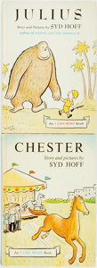 Books:Children's Books, [Children's Illustrated]. Syd Hoff. Julius [and:]Chester. New York: Harper & Row, [1959, 1961]. Earlyprint... (Total: 2 Items)